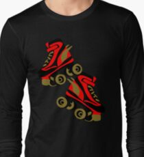 Cool golden roller skates Roller Derby Long Sleeve T-Shirt