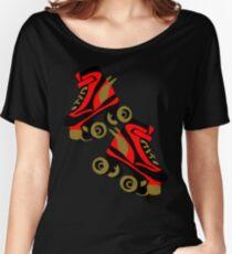 Cool golden roller skates Roller Derby Women's Relaxed Fit T-Shirt