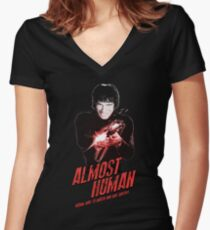Almost Human - Tomas Milian Women's Fitted V-Neck T-Shirt
