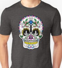 Mexican Coffee Skull Unisex T-Shirt