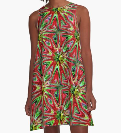 Abstract Color Confusion A-Line Dress