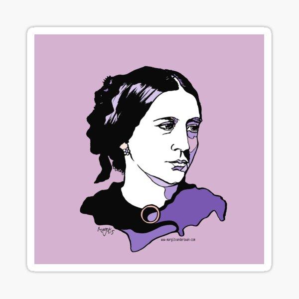 Clara Schumann Pianist and Composer Sticker