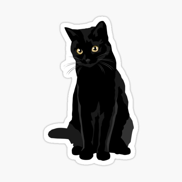 Schwarze Katze Sticker