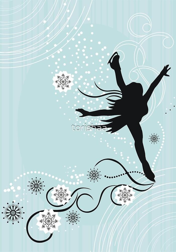 ice skater  by torishaa