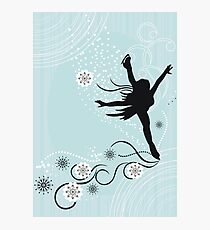 ice skater  Photographic Print