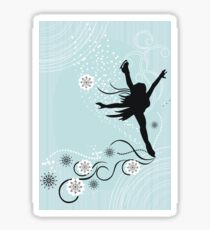 ice skater  Sticker
