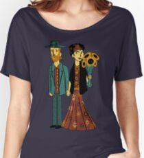 Love is Art Frida Kahlo and Van Gogh Women's Relaxed Fit T-Shirt