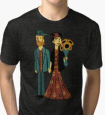 Love is Art Frida Kahlo and Van Gogh Tri-blend T-Shirt