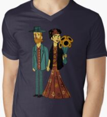 Love is Art Frida Kahlo and Van Gogh Men's V-Neck T-Shirt