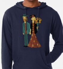 Love is Art Frida Kahlo and Van Gogh Lightweight Hoodie
