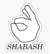 Shabash - dark Sticker