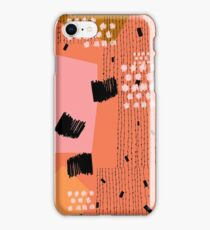 Clementine // Abstract Scribble Retro iPhone Case/Skin