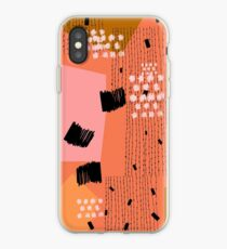 Clementine // Abstraktes Gekritzel Retro iPhone-Hülle & Cover