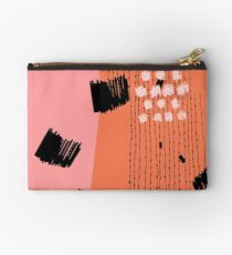 Clementine // Abstract Scribble Retro Studio Pouch