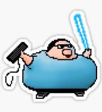 Boogie Warrior Pixels Sticker