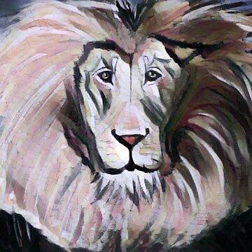 Abstract Lion (dark colours) by AngieRocksArt
