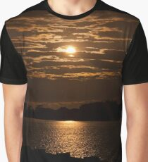East Coast Sunset over a river Graphic T-Shirt