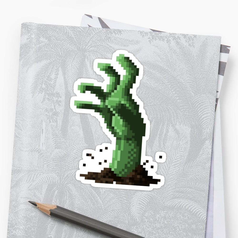 Zombie Grasp Pixels by andersonOllie