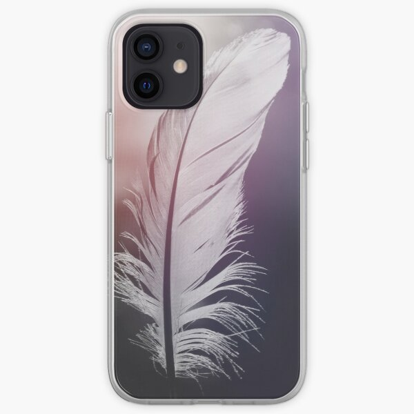 Feather in Pastel Tones iPhone Soft Case