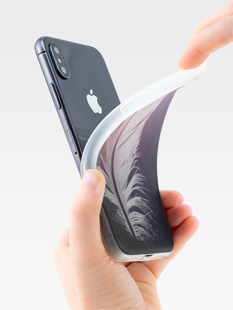 Alternative Ansicht von Feder in Pastelltönen iPhone-Hüllen & Cover