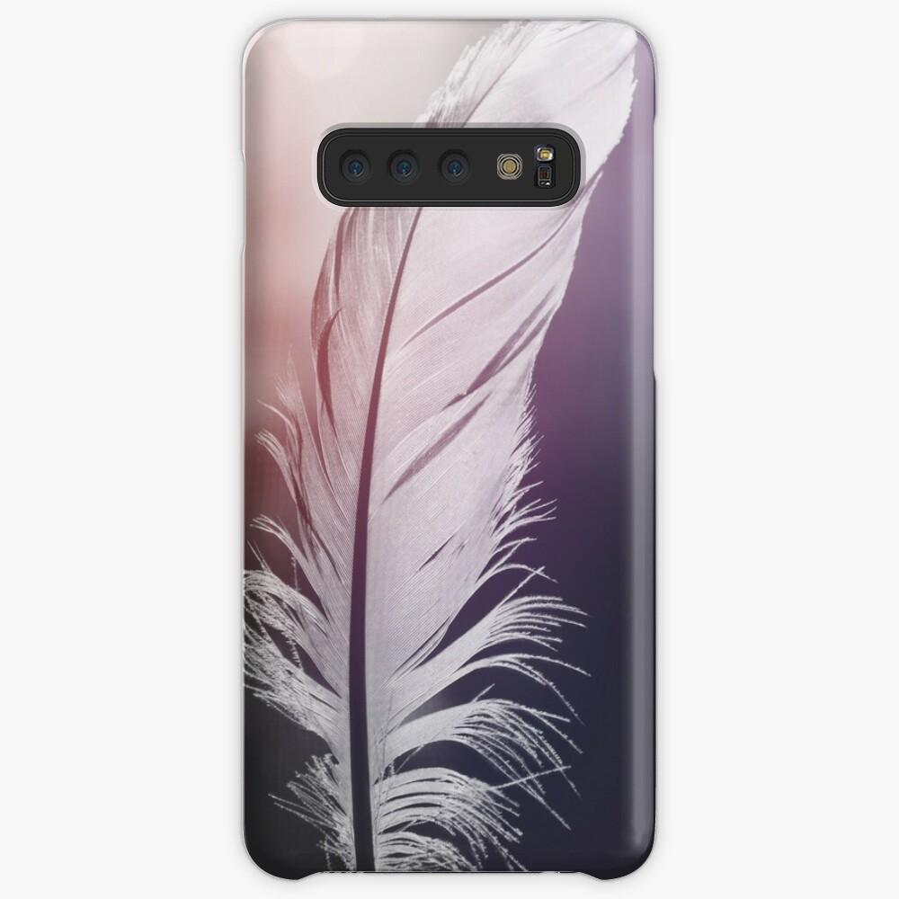Pluma en tonos pastel Funda y vinilo para Samsung Galaxy