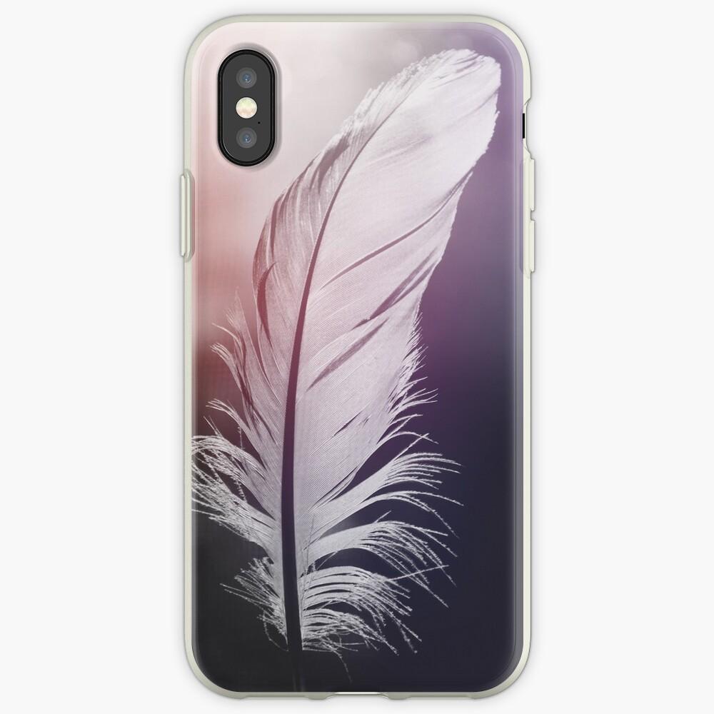 Feder in Pastelltönen iPhone-Hüllen & Cover