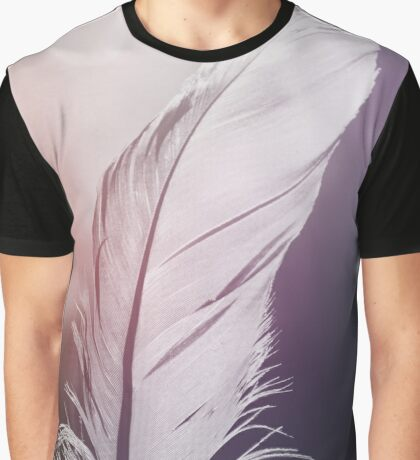 Feather in Pastel Tones Graphic T-Shirt