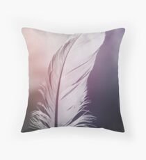 Feather in Pastel Tones Throw Pillow