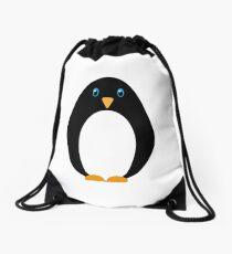 Cute Cartoon Simple Penguin Drawstring Bag