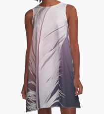 Feather in Pastel Tones A-Line Dress