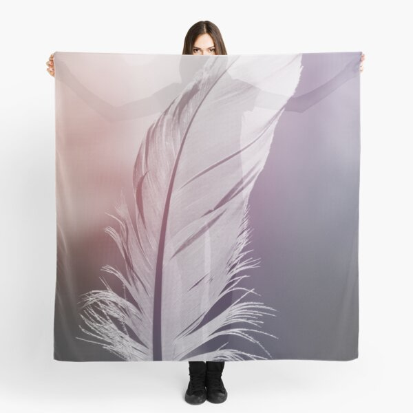 Feather in Pastel Tones Scarf