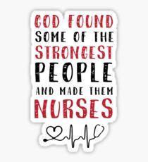 Nurse Strong Sticker