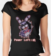 FIVE NIGHTS AT FREDDY'S-Bonnie- Power Left 0% Women's Fitted Scoop T-Shirt