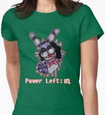 FIVE NIGHTS AT FREDDY'S-Bonnie- Power Left 0% Womens Fitted T-Shirt