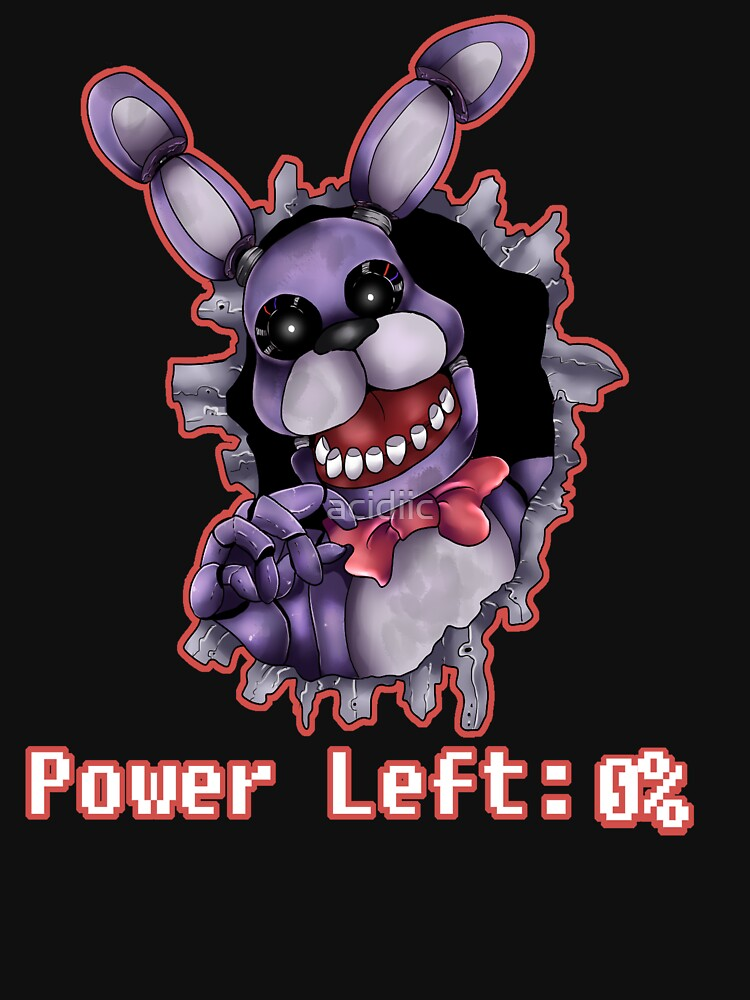 FIVE NIGHTS AT FREDDY'S-Bonnie- Power Left 0% | Unisex T-Shirt