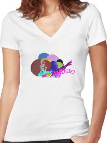Blow One for Clarence - Pt 1 Women's Fitted V-Neck T-Shirt