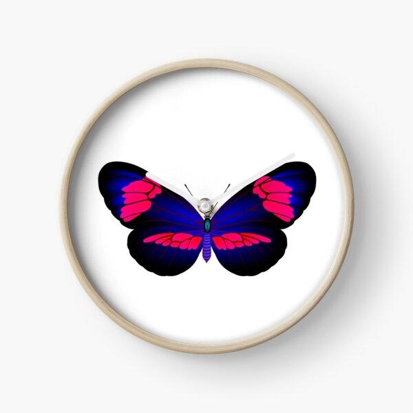 Full color danaida butterfly Clock