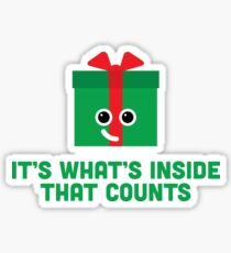 Christmas Character Building - It's whats inside… Sticker