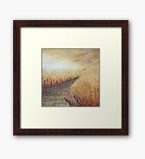 Flowing to the sea II Framed Print