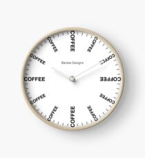 Barista Coffee Clock Clock