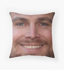 Stephen Amell Face Throw Pillow Throw Pillow