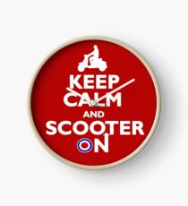 Keep Calm and Scooter On Clock