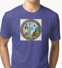 North Carolina seal Tri-blend T-Shirt