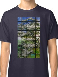 Dogwood Stained Glass Window Classic T-Shirt
