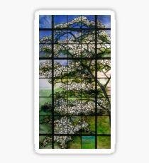 Dogwood Stained Glass Window Sticker