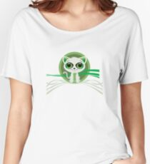 Kitten - Green Women's Relaxed Fit T-Shirt