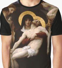 Pieta Chiffon by William Adolphe Bouguereau (1825-1905) Graphic T-Shirt