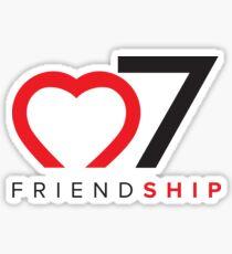 o7 (Heart) Friendship Sticker