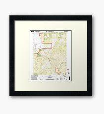 USGS TOPO Map California CA Sierraville 295201 2000 24000 geo Framed Print