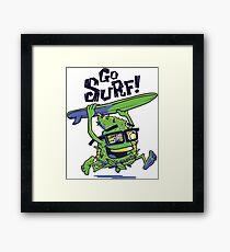 California Surfing Bud Framed Print